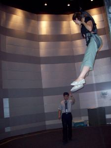 This is the part where the dude told me I was jumping to high.  I'm in outer space dude!  I'm going to jump as high as I want.