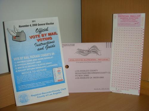 The absentee ballot has been cast!