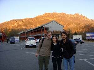 After a day of climbing the Great Wall
