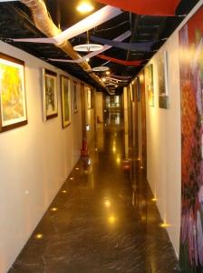 Artsy hallway of In On City Inn