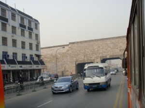 Approaching Nanjing's City Wall